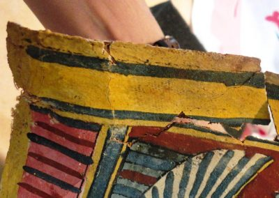 Four Egyptian Polychromed and Gilt Cartonnages