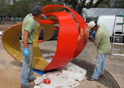 restoration of public art installations