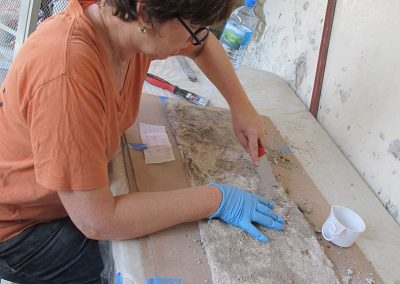 Disaster Recovery—Salvage of Historic Mural Damaged in an Earthquake