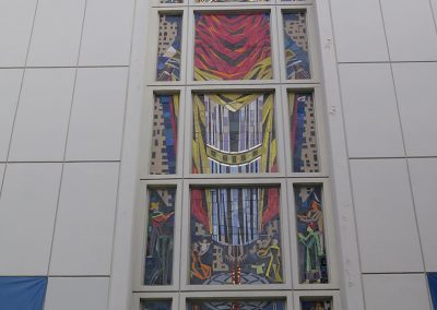 St. Augustine<br>Glass Façade Mosaic<br>(before treatment)