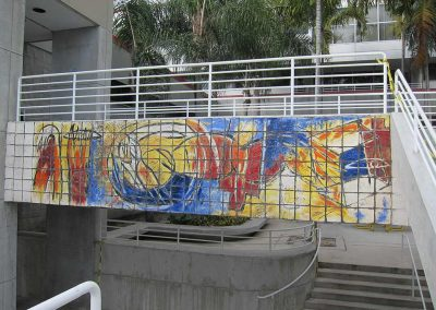 Carlos Alfonso<br>tile mural<br>(before treatment)