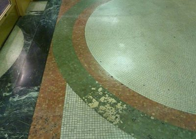 mosaic floor<br>(before treatment)