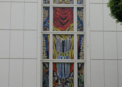 St. Augustine<br>Glass Façade Mosaic<br>(after treatment)