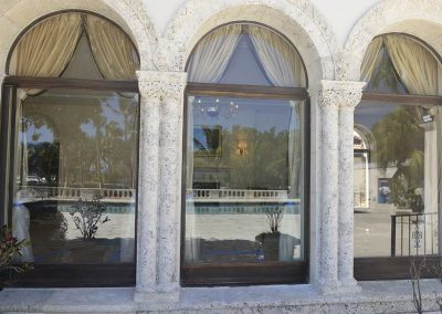 Historic Architecture Conservation Bronze Windows at Vanderbilt Mansion on Fisher Island