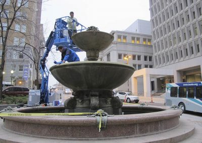 Kemper Memorial Fountain<br>(During Treatment)