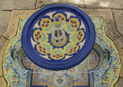 Historic Fountain Conservation—Ceramic Tile Fountain Treatment