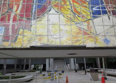 Carlos Alfonso<br>tile mural<br>(during treatment)