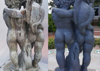 Cummer Museum<br>Cherub Fountain<br>(Before-and-After-Detail)