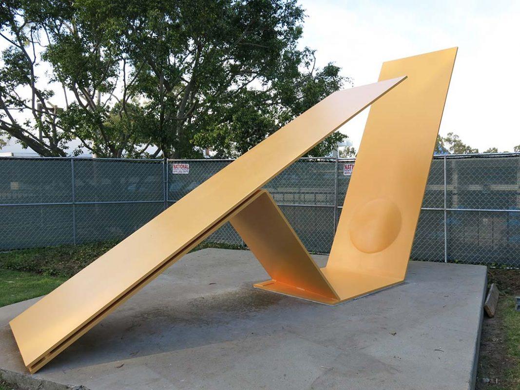 lead paint abatement and steel welding on sculpture