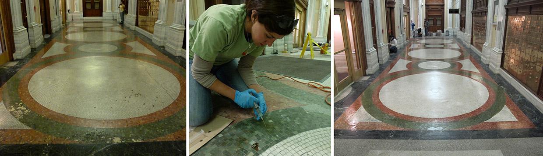 terrazzo and mosaic flooring repair