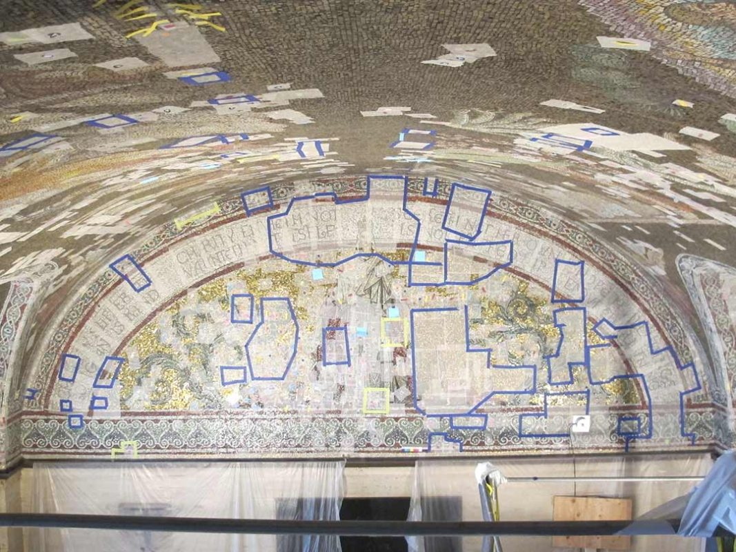 ceiling vault mosaic repair
