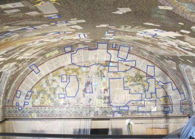 Glass Mosaic Vaulted Ceiling Examination + Project Supervision
