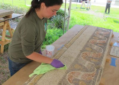 Mosaic & Mural Conservation — Ancient Antioch Mosaic Panels Cleaning 01