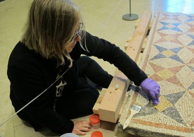 Mosaic & Mural Conservation — Ancient Antioch Mosaic Panels Cleaning