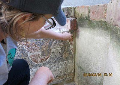 Mosaic & Mural Conservation — Ancient Antioch Mosaic Panels Fountain 01 During