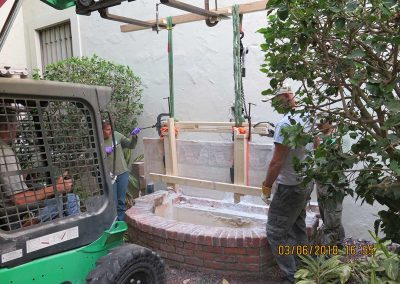 Mosaic & Mural Conservation — Ancient Antioch Mosaic Panels Fountain 03 Removal