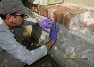 Mosaic & Mural Conservation — Ancient Antioch Mosaic Panels Fountain 2 During