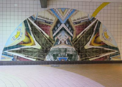 Mosaic Mural De-installation & Re-installation