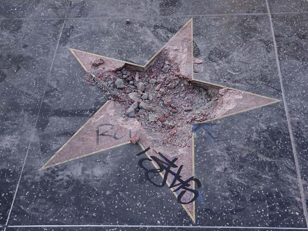 Rosa Lowinger LA Times Trump star walk of fame destroyed